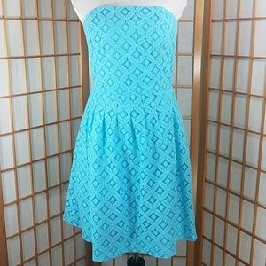 Lilly Pulitzer Caitlin blue lace eyelet mini dres